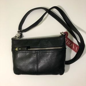 Merona Black Crossbody Purse, NWT